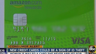 Woman got credit card she never applied for - Video