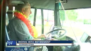 MCTS driver emotional ahead of retirement - Video