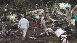 Families receive bodies from Colombia plane crash - Video