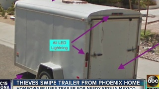 Trailer stolen from Phoenix family's home was EXTREMELY valuable - Video