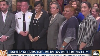 Mayor Stephanie Rawlings-Blake reaffirms city as welcoming to immigrants - Video