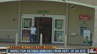 Inspection ratings removed from Dept. of AG site - Video