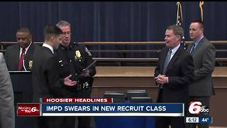 Indianapolis Metropolitan Police Department swears in new recruit class - Video