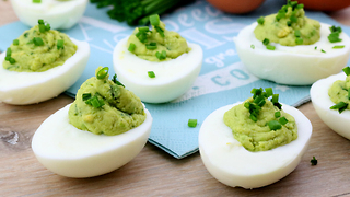 Guacamole deviled eggs recipe