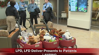 LPD, LFD spread holiday cheer at Sparrow Hospital - Video