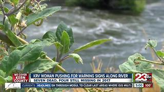 KRV woman pushing for warning signs along Kern River - Video