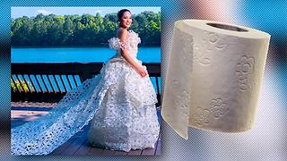 Toilet Paper Dress?! 3 Unusual Fashion Trends - Video