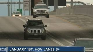 New three-passenger HOV lane requirement goes into effect between Denver and Boulder on Jan. 1 - Video