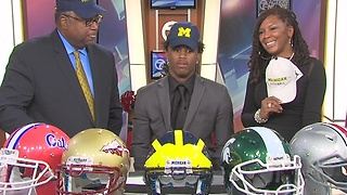 No. 1 WR recruit Donovan Peoples-Jones commits to Michigan - Video