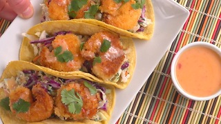 Sweet chili shrimp tacos - Video
