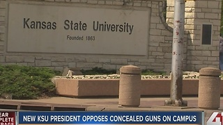 KSU president opposes concealed guns on campus - Video