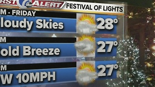 7 First Alert Festival of Lights Forecast December 8th 2016 - Video