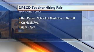 Detroit Public School Community District hiring fair happening today - Video