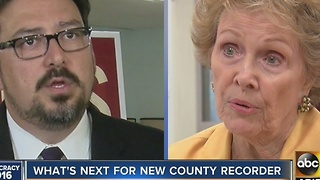 What's next for the new Maricopa County Recorder once he replaces Helen Purcell? - Video