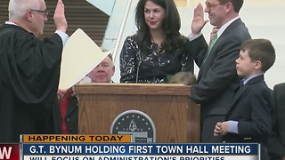 Mayor G.T. Bynum will hold first town hall meeting - Video