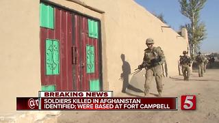 3 Fort Campbell Soldiers Killed In Afghanistan - Video