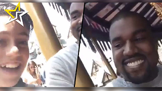 Kanye West Superfan Grabs The Famous Rapper For A 9-Second Snapchat Interview At Disneyland - Video