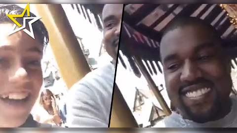 Kanye West Superfan Grabs The Famous Rapper For A 9-Second Snapchat Interview At Disneyland