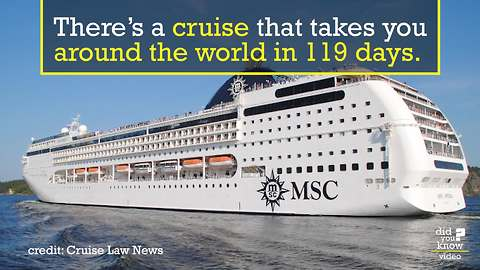 All aboard this amazing worldwide cruise
