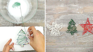 Easy DIY string ornaments for Christmas - Video