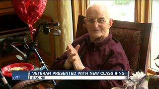 Veteran Presented With New Class Ring - Video