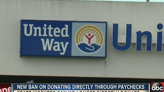 Florida bans state workers from donating to charities through office