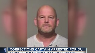 Corrections Captain Charged with DUI - Video