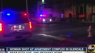 Woman in critical condition after being shot in Glendale apartment