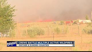 Lightning sparks wildfires across Treasure Valley - Video