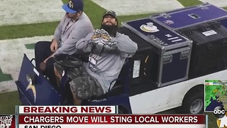 Chargers move will sting local workers