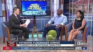 Fundraiser dinner to help veterans with PTSD - Video