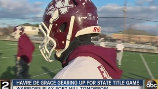 Title rematch game for Havre de Grace football team - Video