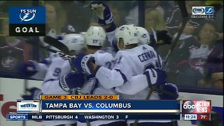 Columbus Blue Jackets move to the brink of sweeping Tampa Bay Lightning