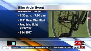 Bike Arvin gives out FREE bike lights - Video