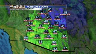 Highs stay in the 80s in Arizona