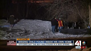 Missing child found inside his own home