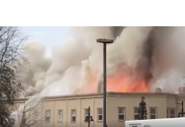 Crews Battle Large Fire in Downtown Auburn's Heritage Building - Video