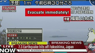Massive earthquake strikes near Fukushima, Japan - Video