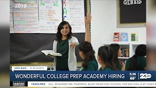 Wonderful College Prep Academy hiring for multiple positions