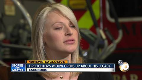 Firefighter's widow opens up about his legacy