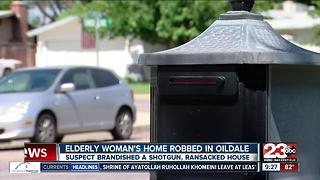 Oildale elderly disabled woman held at gunpoint - Video