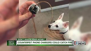 Counterfeit chargers could catch fire - Video