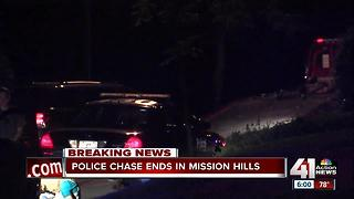 Downtown KC robbery leads to high speed chase, crash in Mission Hills - Video