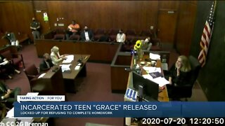 Incarcerated teen 'Grace' released from detention center