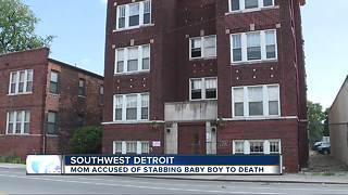 Detroit mom accused of stabbing baby boy to death - Video