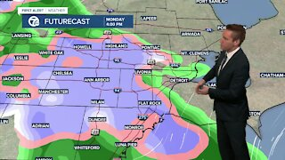Metro Detroit Forecast: Chance of rain and snow this afternoon, evening