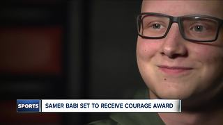 North Olmsted High School senior, cancer patient receives Courage Award at Cleveland Sports Awards - Video