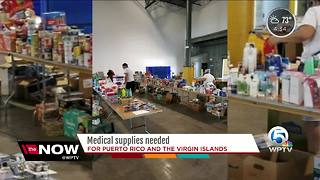 Medical supplies needed for Puerto Rico and the Virgin Islands - Video