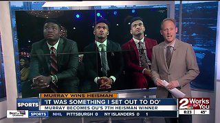 Kyler Murray on winning Heisman Trophy: 'It was something I set out to do'