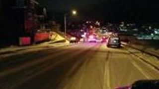 Police Officers Order Evacuation of Downtown Kodiak After Tsunami Warning - Video